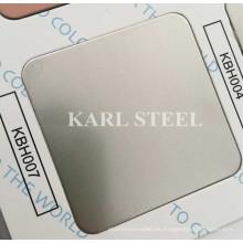 Hoja 430 acero inoxidable color plateado de la línea de cabello Kbh007