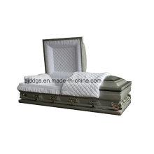 Prata sombreado caixão acabamento preto (tamanho grande)