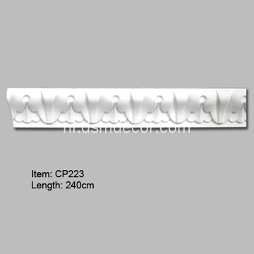 Polyurethaan decoratieve Acanthus Leaf Crown Molding