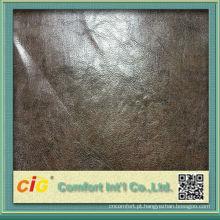 Couro do plutônio metálico de forte chinês molhado PU couro macio
