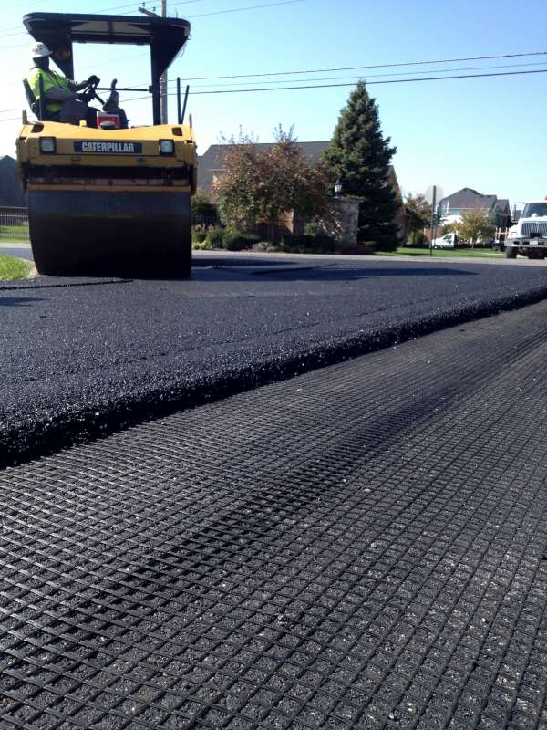 Fiberglass Geogrid For Asphalt Pavement