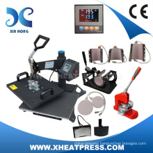 CE factory high efficiency 9 in 1 combo heat press machine (14years experience)