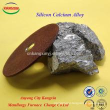 Silício Cálcio / liga de SiCa como inoculante viciante para produção de Ferro Ductile
