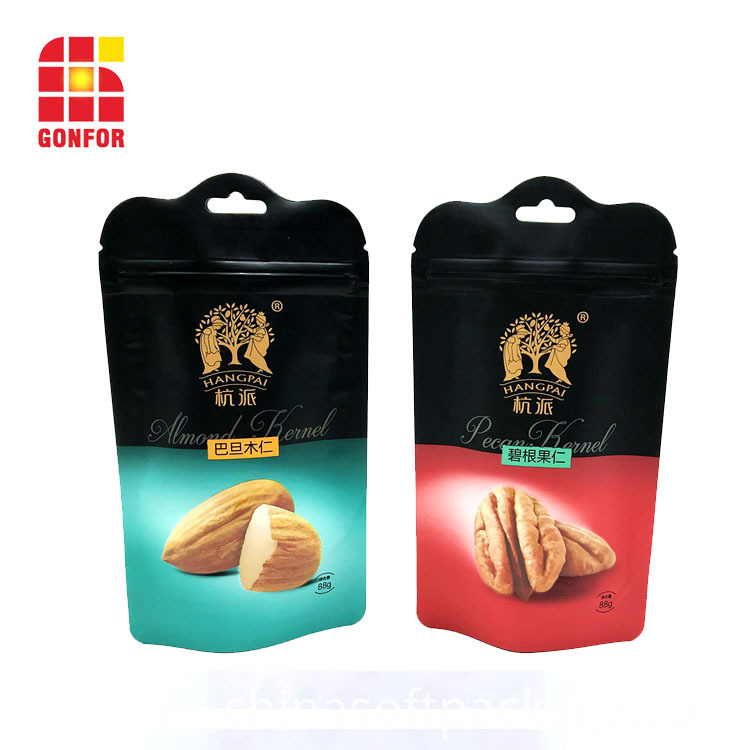 Shaped Plastic Stand Up Pouch For Nuts Packaging2