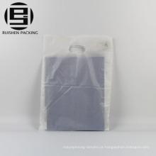 Saco de compras barato cortado plástico reciclável