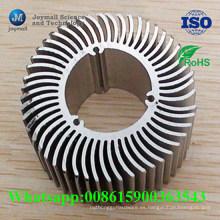 Disipador de calor tubular de la aleación de aluminio de encargo