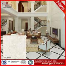 telhas de piso de mármore artificial alfa com telhas de mármore branco