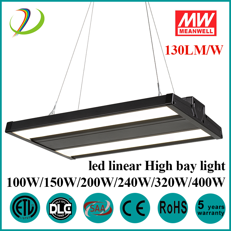 Sensor High Bay Linear Pendant Fixtures