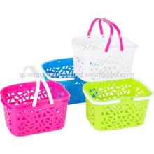 Wholesale fashion styles polyester storage food basket handle baskets