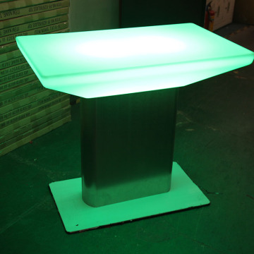 Promotionele hoge top gloeiende nachtclub led bar tafel