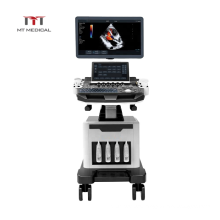 21.5 inch LED screen + 13.3 inch touch screen mobile medical ultrasound instruments system 4d ultrasound machine