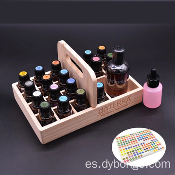 Keeping your oils safe 21 bottles Pine wood Essential Oil Wooden Box