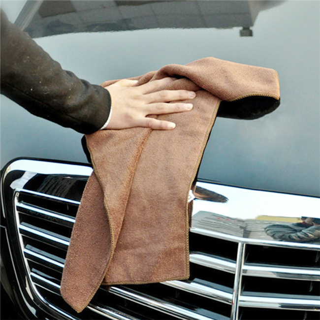 customized microfiber clean car towel