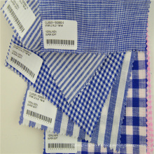 linen ramie checked clothing fabric