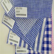 rami de linho verificado tecido de roupas