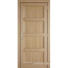 Unfinished interior oak veneered 4 panel composite wooden door