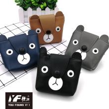 Custom cartoon bear PU coin purse