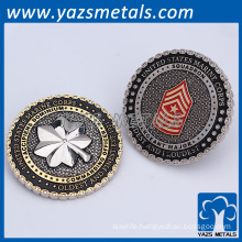 OEM Dual Plating 3D Brass Military Coin