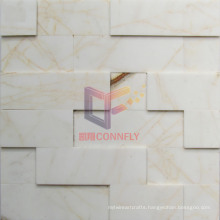 White and Gold Mixed Natural Marble Mosaic (CFS1058)