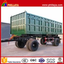 4 Achsen-Kohle-Transport, der vollen Anhänger mit Zugriegel kippt