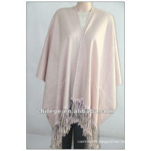 fashion, ladie's cashmere cape, with leather trim
