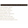 Base magnética y gancho colgante, batería de 5000K luz de día, 200 lúmenes, luz de trabajo portátil LED, multi-uso COB linterna
