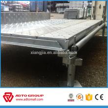 Encofrado y andamios de construcción galvanizado Tablas de metal Kwikstage