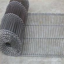 Heat resistant ladder steel wire mesh conveyor belt