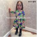 Atacado 3 4 5 6 7 year old girl dress para o natal 2017 baby girl party dress crianças frocks desenhos