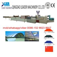 Folha ondulada do telhado do PVC (telhas) que faz a planta da máquina