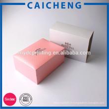 Boîte de papier de luxe rigide imprimé personnalisé pour les cosmétiques