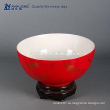 Decoración de gran tamaño de cerámica del hogar del tazón de fuente del alto grado del día de fiesta