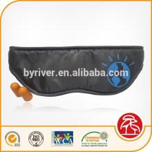 Adjustable Back Strap Travel Sleeping Eye Mask with Ear Plug Pouch