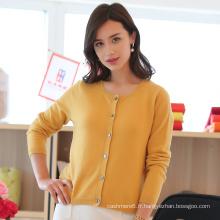 Chandail tricoté en cachemire tricoté pour femme