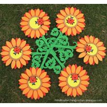 EVA smiling sunflowers,Christmas DIY crafts DIY flower classroom wall/metope decorate flower,wall sticker EVA smiling sunflower