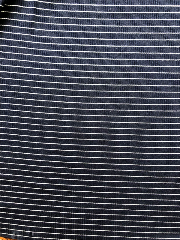 Rayon spandex yarn dyed 4by2 rib knitting fabric