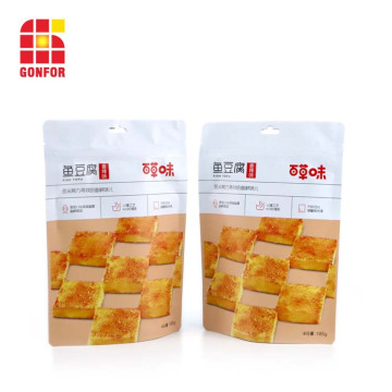 Snack Packaging bolsa de pie con orificio para colgar