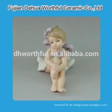 Schöne niedliche Engel Statuen, Keramik Engel Ornamente für Großhandel