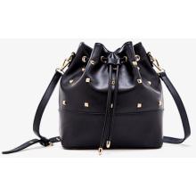 Women PU Leather Fashion Tassel Drawstring Tote Single-Shoulder Bag (ZX10087)