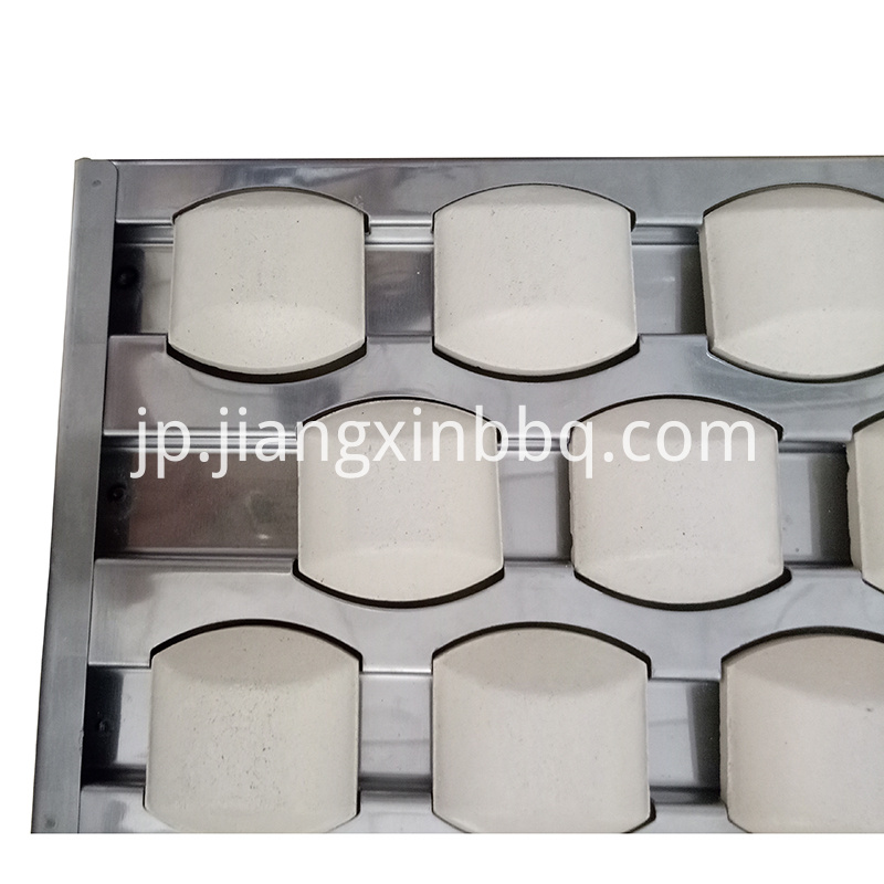 Ss Tray With Ceramic Briquettes