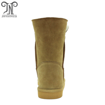 Fashionable warmest winter outdoor cow suede Leather boots