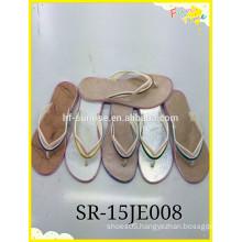 2015 New ladies silver Print Flip Flop Slipper shoes