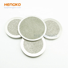 Sintered porous 316 stainless steel filter disc for Liquid Diffuser