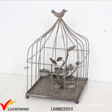 Rustic Decorative Metal Birdcage Tealight Candle Holder