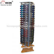 Eyewear Optical Frame Showroom Floor Retail Display Stand, Wood And Metal Sunglasses Display Spinner