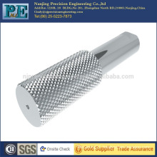 China high precision and quality custom hatching knurling parts