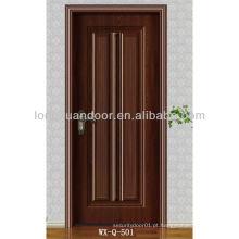 Porta de madeira moderna com MDF e acabamento de melamina, preço barato à venda