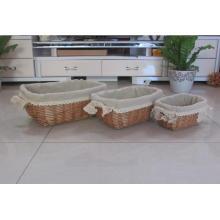 (BC-WB1015) High Quality Handmade Natural Willow Basket/Gift Basket