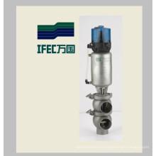 Vanne à commande pneumatique en acier inoxydable (IFEC-PR100002)