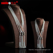 Fashion Long Natural Freshwater Pearl Necklace Jewelry Design